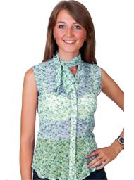 558661a6ef8 Блузка без рукавов - романтический образ