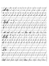 Онлайн прописи для письма Буквы и цифры