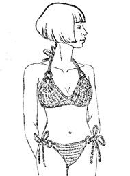 схема вязания купальника с колечками крючком и описание узора