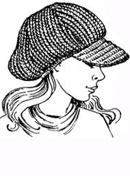 схема вязания кепки для женщин спицами и крючком и описание узора